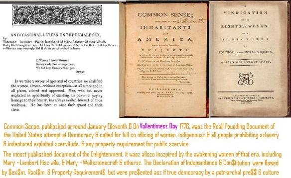 occaszionall letter common szensze vindication ~Lambert ~Paine ~Wollsztonecraft